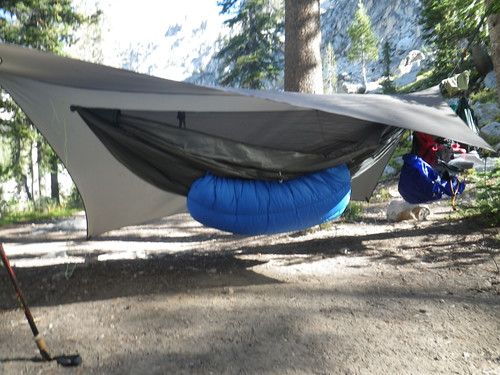 another members pack on the same trip suspending your backpack from your hammock   rh   hammockforums