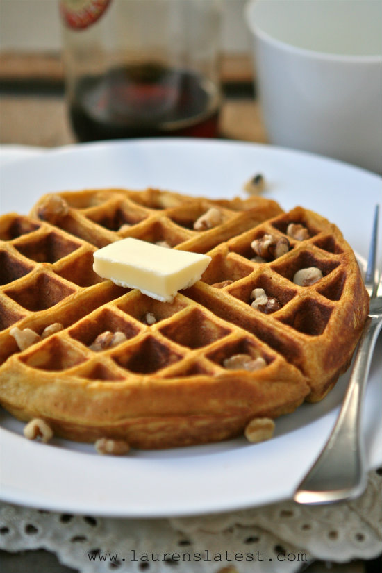 Pumpkin Yeasted Waffles 3