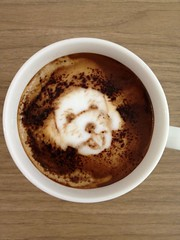 Today's latte, @atsuoishimoto.