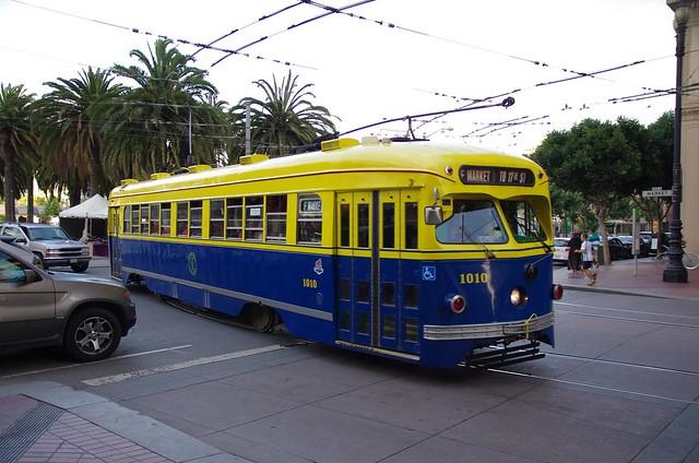 San Francisco F Market & Wharves historic streetcar line