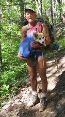 Devils Dome Tr#752 9/6/12, Day 6.  Retreating to East Bank Trail.  Corgi Rescue Sling V.2.3.