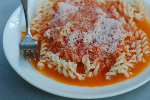Tomato Sauce With Butter & Onion by Eve Fox, Garden of Eating blog, copyright 2012