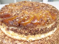 Nectarine Upside-Down Chiffon Cake by Teckelcar