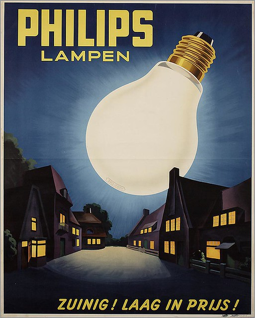 Philips Light Bulbs. 1938