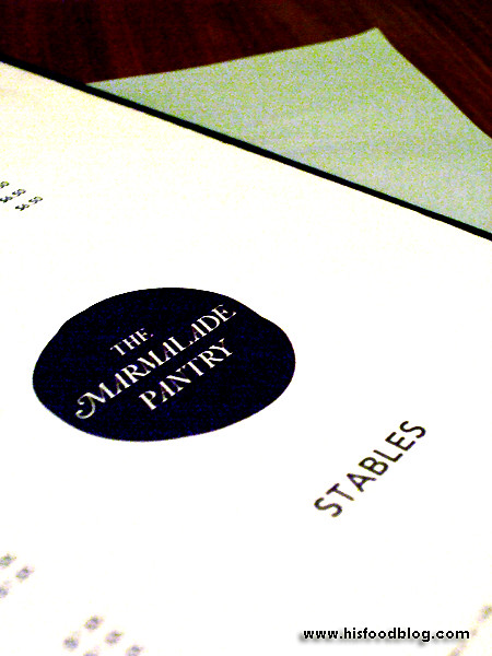 His Food Blog - Marmalade Pantry at the Stables