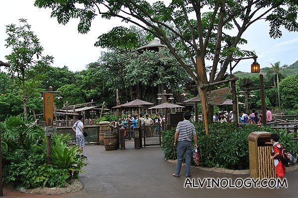 On our way to board the Jungle River Cruise at Adventureland