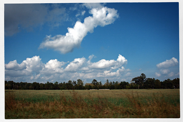 Field and Running Cloud, South Carolina