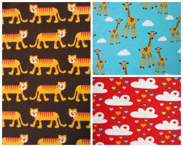 Giraffe, tiger and clouds Collage