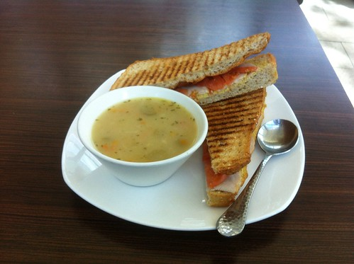 Soup and Panini by raise my voice