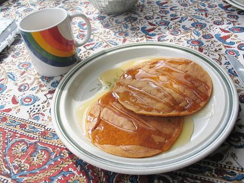 Vegan pumpkin pancakes.