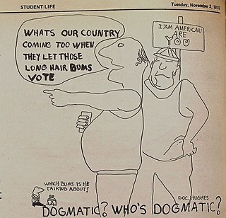 Cartoon in a 1970 issue of The Student Life