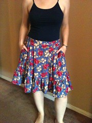Ruffled Floral Skirt - After