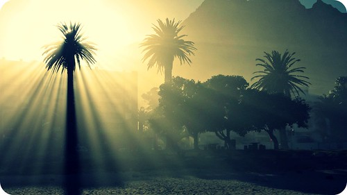light beach nature sunrise capetown flare rays sunrays hcs