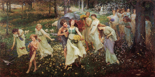 "Charles Daniel Ward (British,1872-1935), ""The Progress of Spring"", 1905"