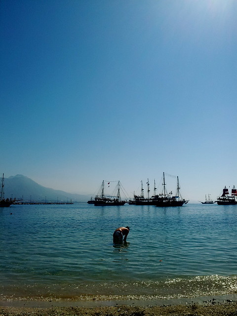 Pirate ships at the beach