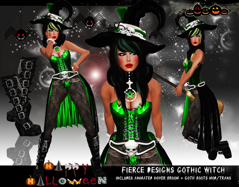 Gothic Witch Green by Fierce Designs