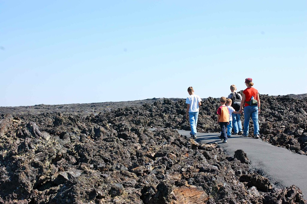 hike through the lava