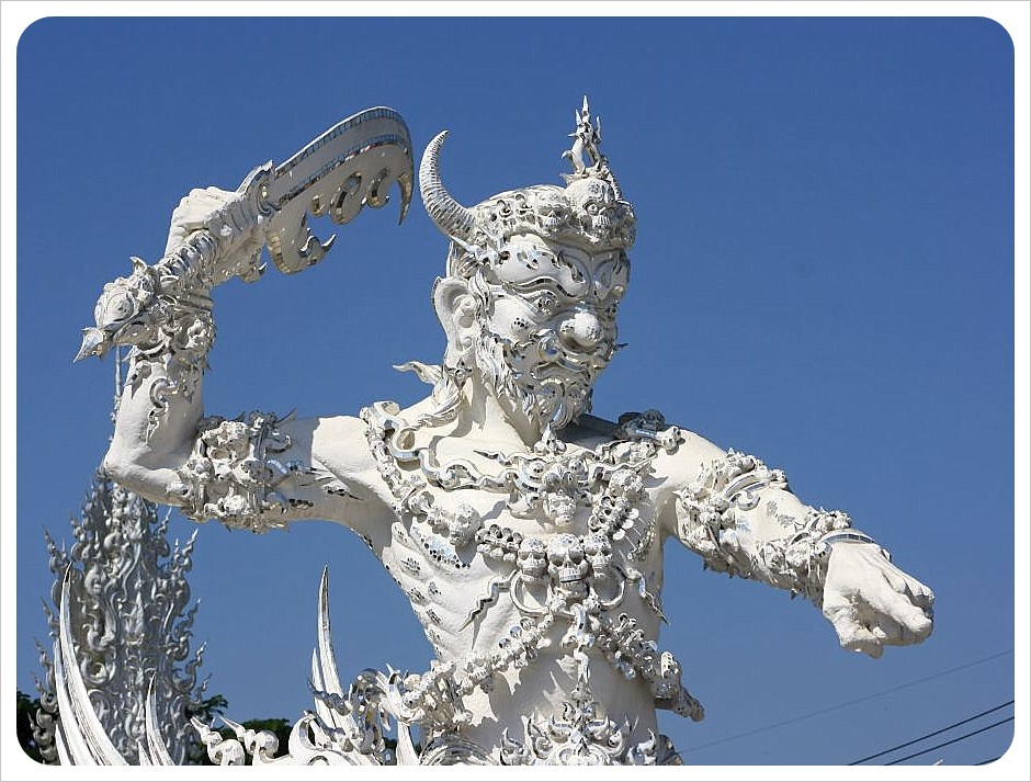 white temple sculpture
