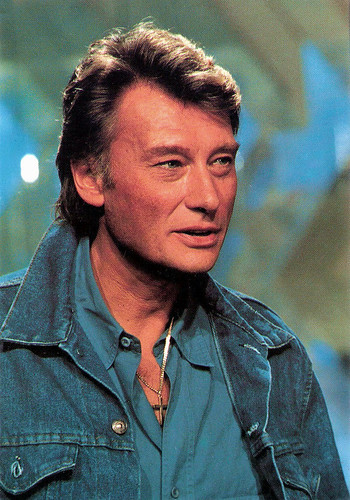 european film star postcards johnny hallyday. Black Bedroom Furniture Sets. Home Design Ideas
