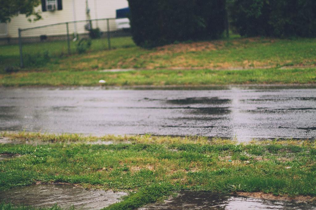 It's only rain.