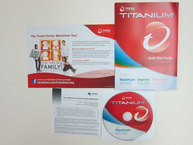 Trend Micro Titanium Maximum Security 2013 - Box Contents
