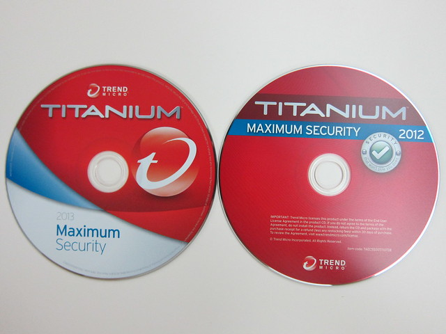 Trend Micro Titanium Maximum Security 2013 & 2012 CDs