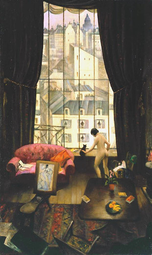 Nevinson,  Christopher (English), 1889-1946)  -  A Studio in Montparnasse  - 1926