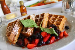 Wafels with berries