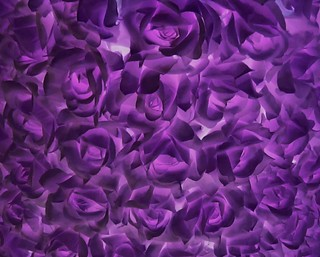 Purple Fabric Flowers