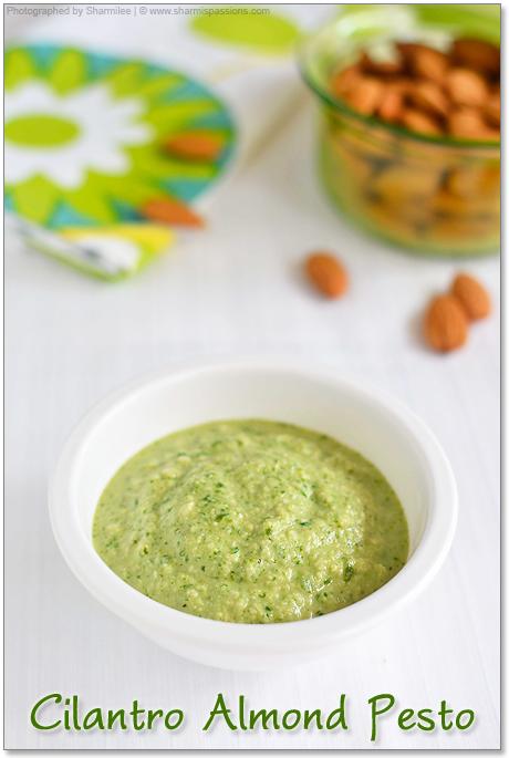 Cilantro Almond Pesto Recipe