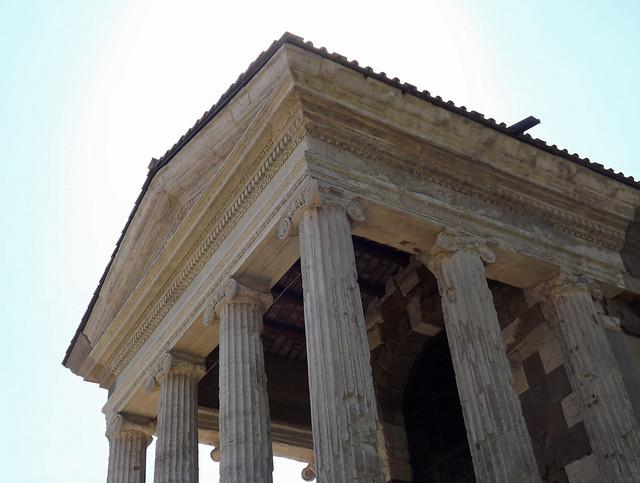 Detail of the Temple of Portunus in the Forum Boarium in Rome, June 2012