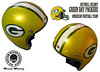 Aerografie Grosseto casco green bay packers biltwell harley davidson 0564 garage metallizzato