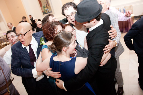 End of Wedding Group Hug