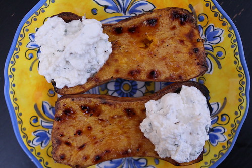 Roasted Butternut Squash with Lemon Honey Ricotta