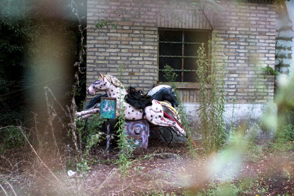 abandoned carnival in Baslicata, Italy