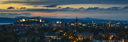 Edinburgh Skyline and Belt of Venus