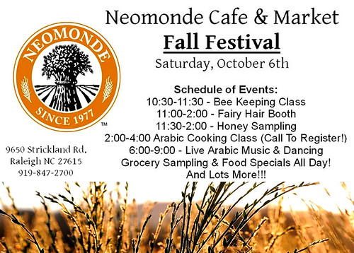 Falls Festival at Neomonde Cafe in North Raleigh – Saturday