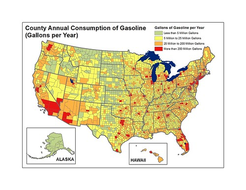 US County Annual Gas Consumption (Gallons Per Year)