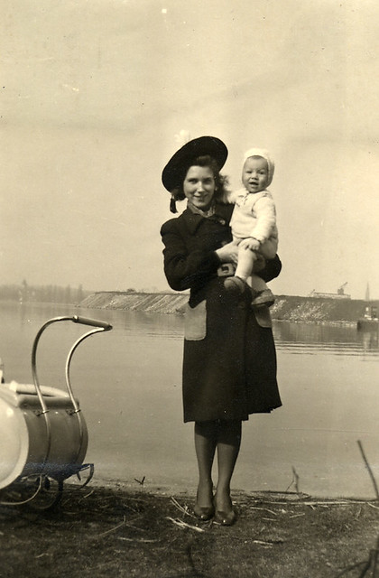 Young mother in the 1940s