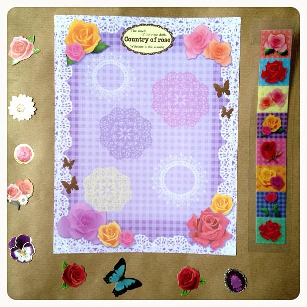 #lace #roses #lace #amazing #letterset #letter #snailmail #butterflies
