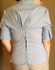 Button-Back Blouse Refashion - After