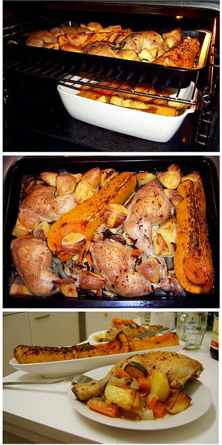 roasted chicken and butternut squash dinner recipe