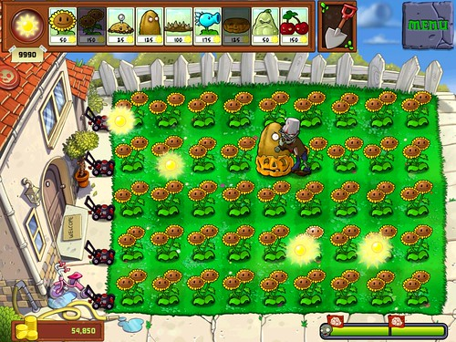 a screenshot I made of Plants vs. Zombies