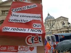 6 octobre 2012 : manifestation des personnels de droit privé à Paris