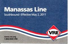 VRE Manassas Line 2011 Cover