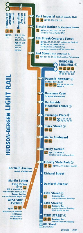 NJ Transit HBLR 2010 Map