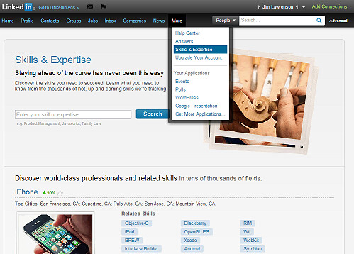 Linkedin Skills and expertise