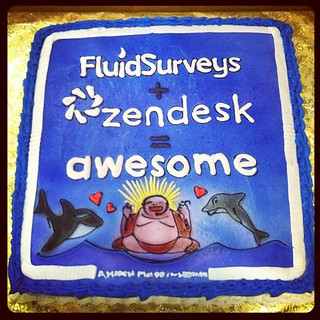 Thanks @FluidSurveys for the awesome cake! We agree, we're a match made in heaven :)