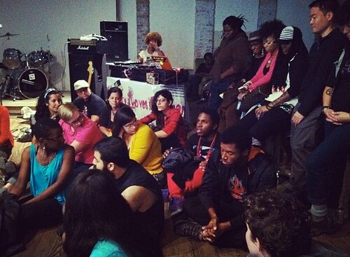 Audience at our Bmore show at Brickhaus discuss racism in LGBTQ communities on Oct 6, 2012