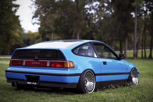 blue Honda CRX